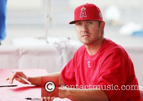 Kevin Jepsen attends the Los Angeles Angels of...