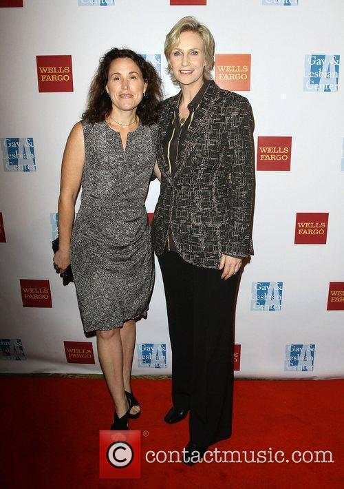 Lara Embry and Jane Lynch at the L.A....