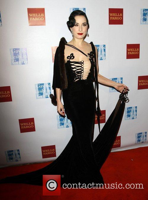 Dita Von Teese at the L.A. Gay and...