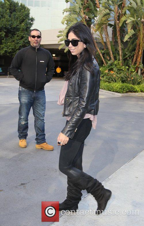 Courtenay Semel Celebrities arrive at The Staples Centre...
