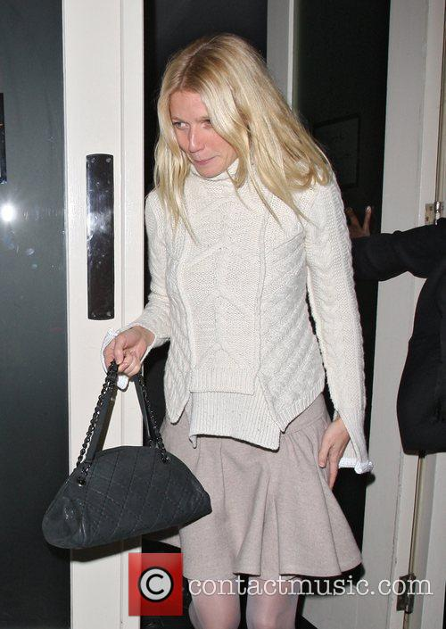 Gwyneth Paltrow leaving La Petit Maison after dining...