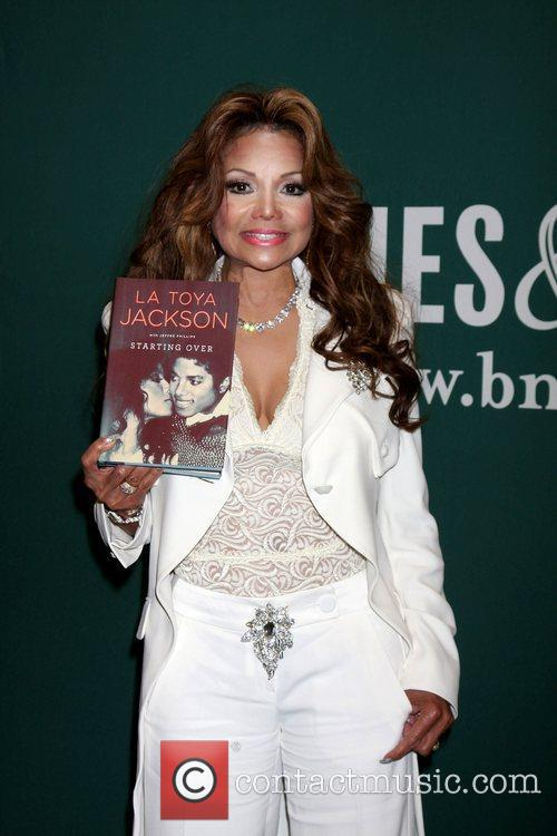 La Toya Jackson signs copies of her new...