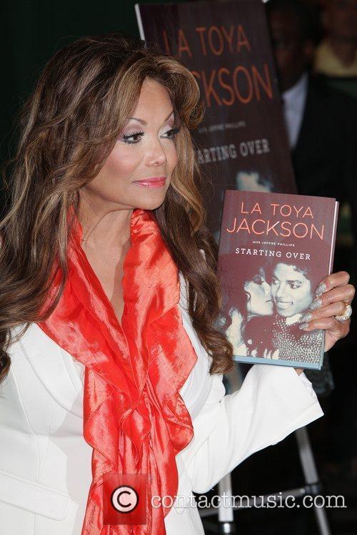 Atmosphere LaToya Jackson signs copies of her new...