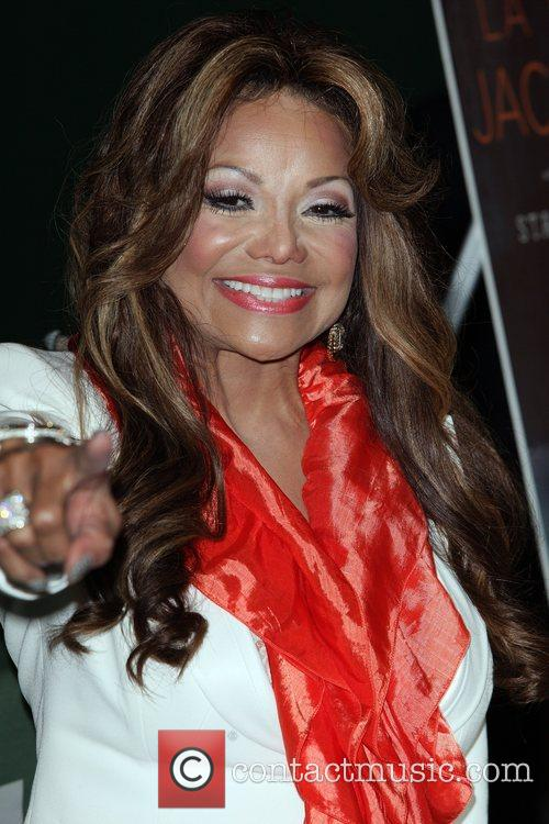 LaToya Jackson signs copies of her new book...
