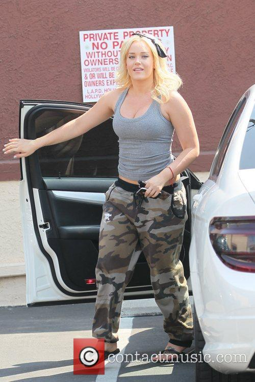 Arriving at 'Dancing with the Stars' rehearsals
