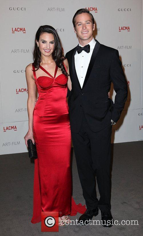 Armie Hammer and Elizabeth Chambers LACMA's Art And...