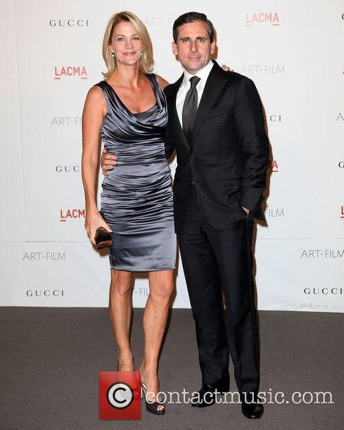 Steve Carrell and wife LACMA's Art And Film...