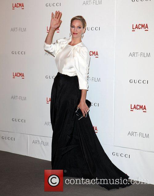 Uma Thurman LACMA's Art And Film Gala Honoring...
