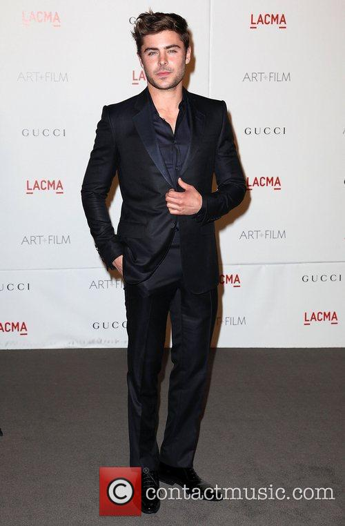 Zac Efron LACMA's Art And Film Gala Honoring...