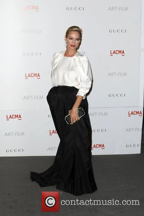 Uma Thurman  LACMA's Art And Film Gala...
