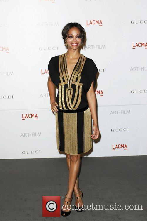 Zoe Saldana  LACMA's Art And Film Gala...
