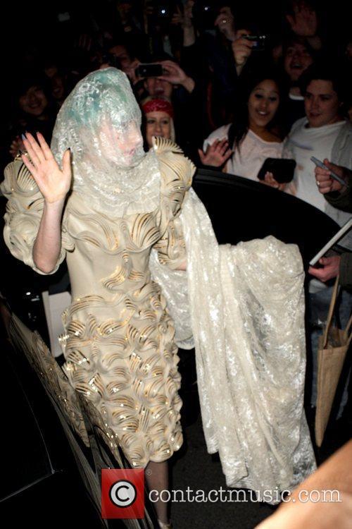Lady GaGa  visits the Nevermind nightclub to...