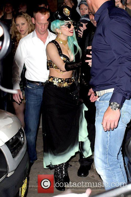 Lady GaGa  arrives to party at the...
