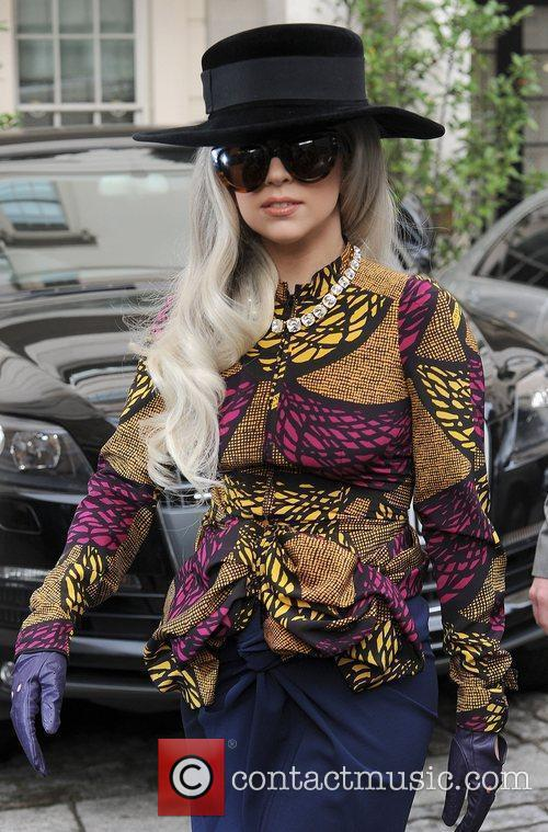 Lady Gaga seen leaving her hotel in London...