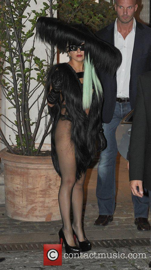 Lady Gaga leaving The Lanesborough Hotel, showing off...