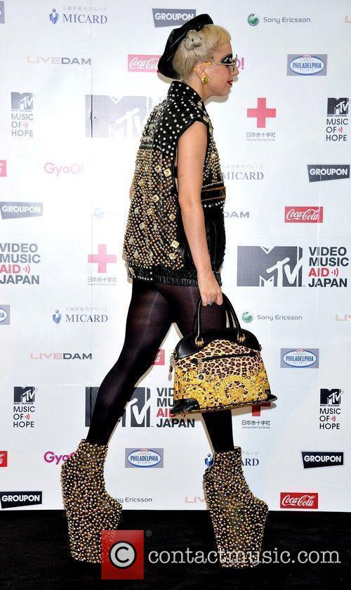 Attends MTV Video Music Aid Japan charity event-...