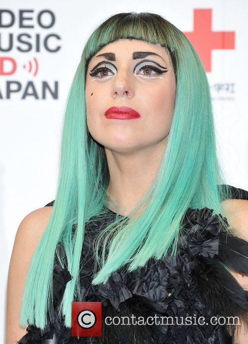 Lady Gaga Green Hair
