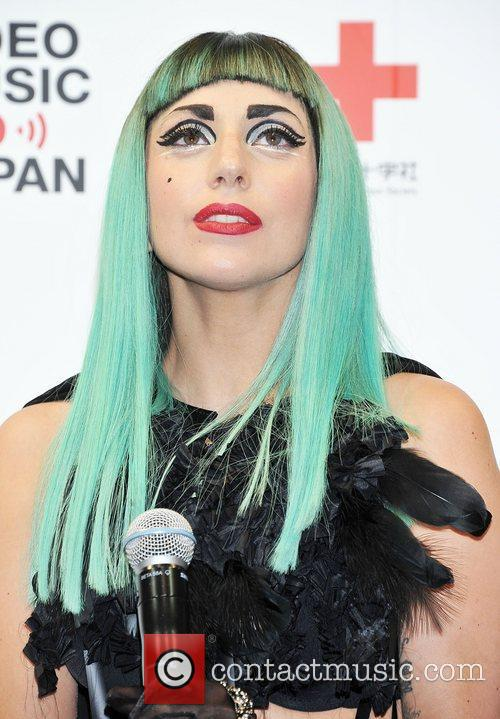 Lady Gaga attends an MTV Video Music Aid...