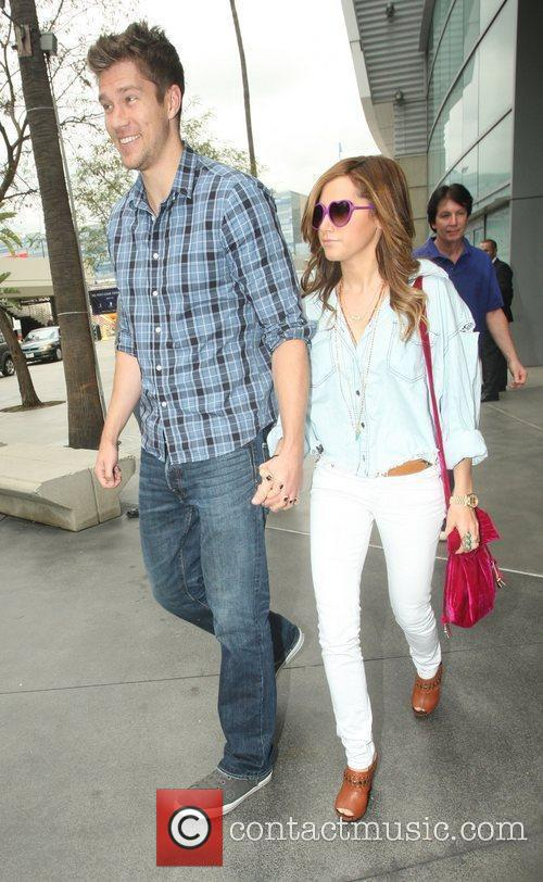Ashley Tisdale,  arriving at the Staples Center...