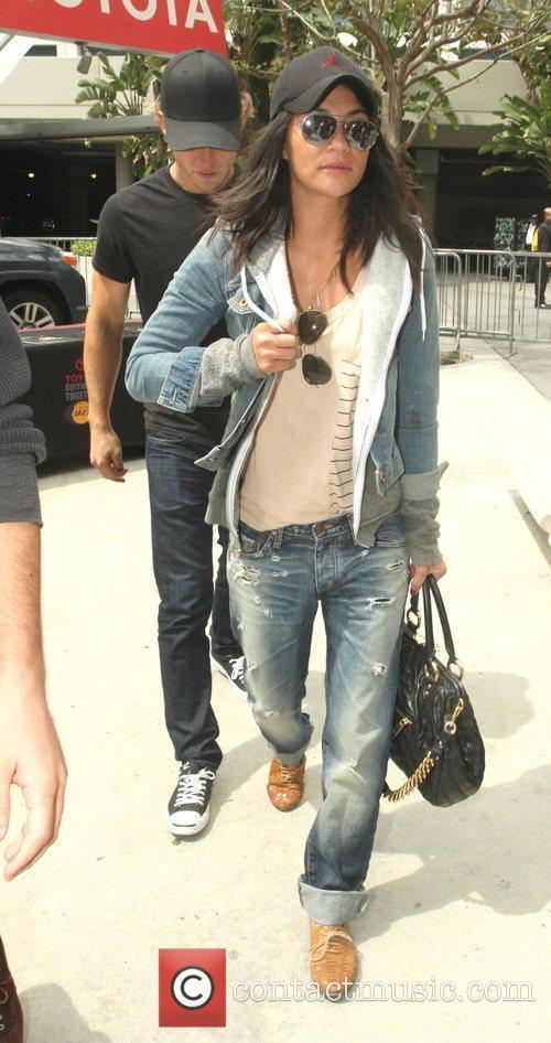 Jessica Szhor,  arriving at the Staples Center...