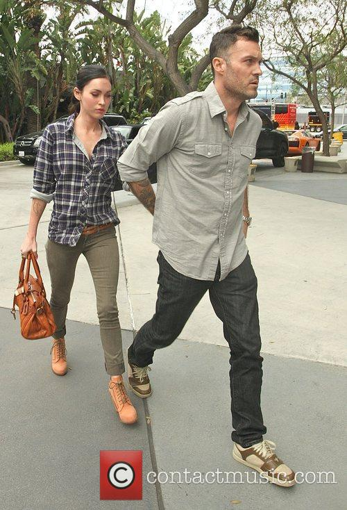 Megan Fox and Brian Austin Green,  arriving...