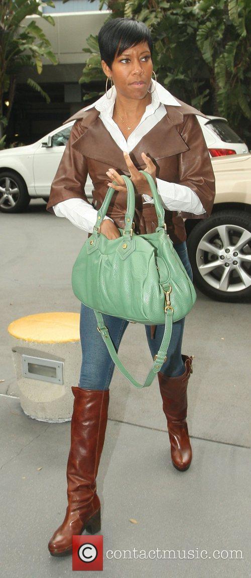 Regina King,  arriving at the Staples Center...