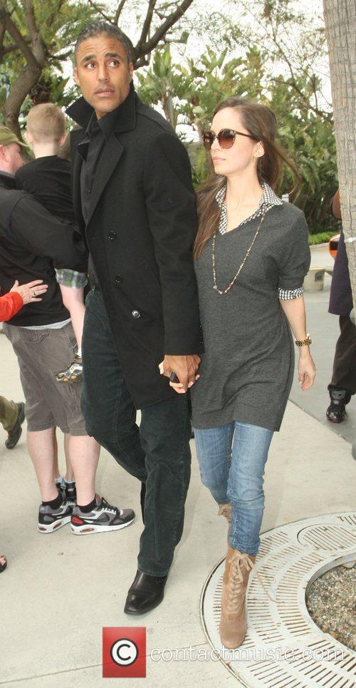 Rick Fox and Eliza Dushku,  arriving at...