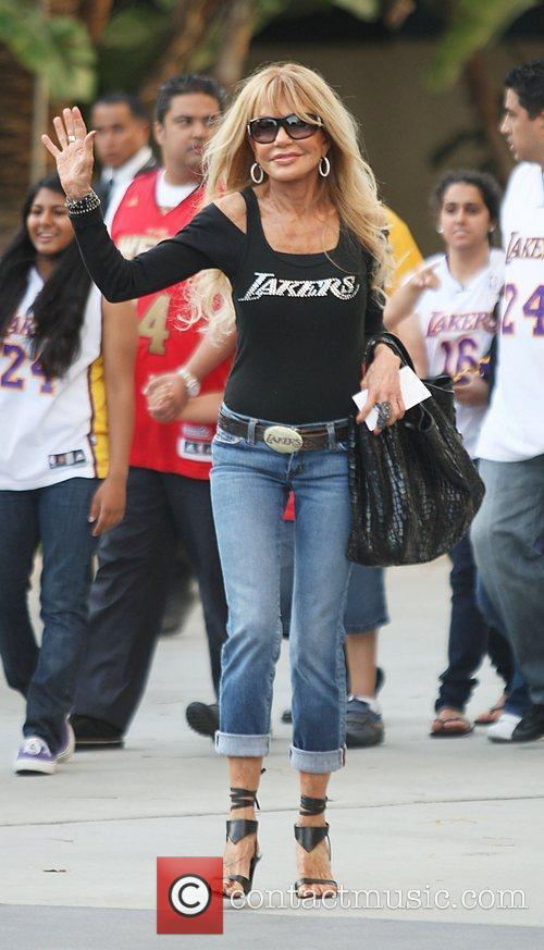Dyan Cannon  Celebrities arriving at The Staples...