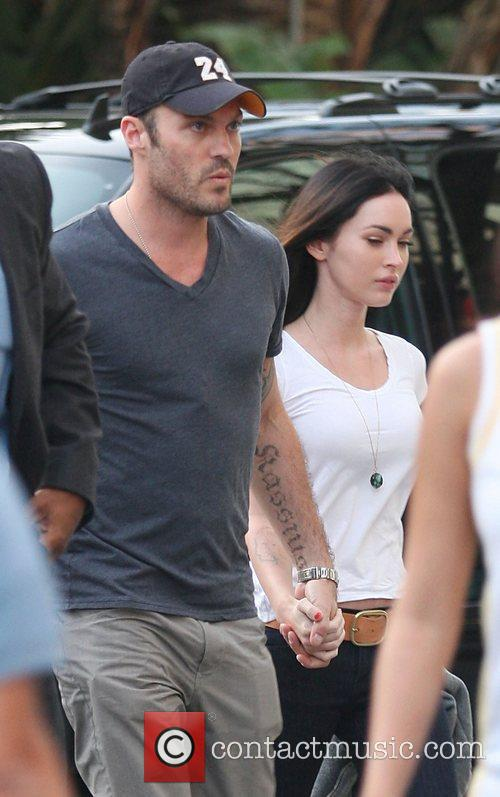 Megan Fox and Brian Austin Green Celebrities arriving...