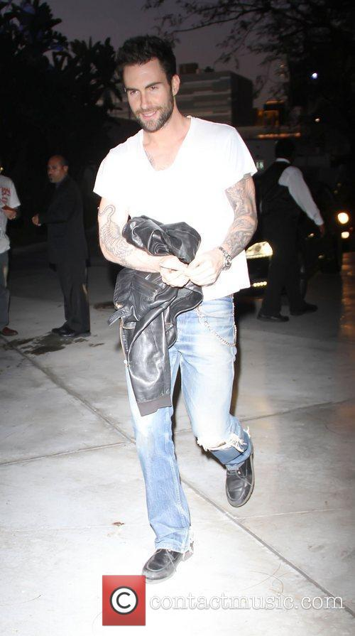 Adam Levine Celebrities attend a Los Angeles Lakers...