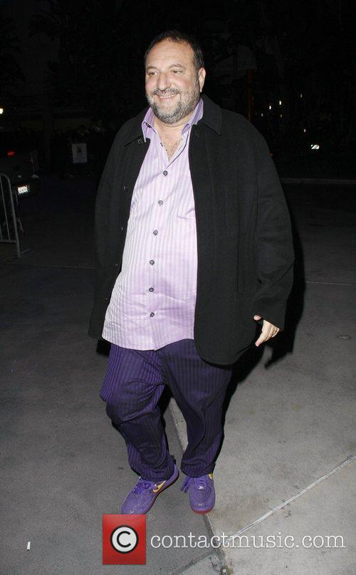 Joel Silver Celebrities arrive at the Staples Centre...