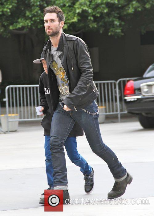 Adam Levine Celebrities attend an LA Lakers game...