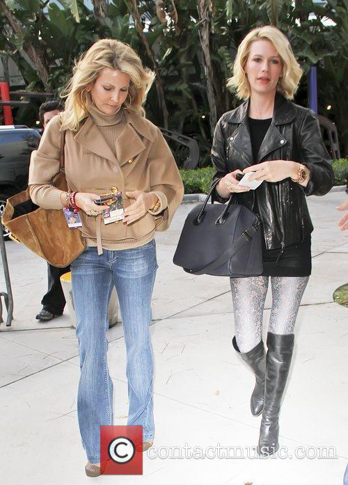January Jones and a friend Celebrities attend an...
