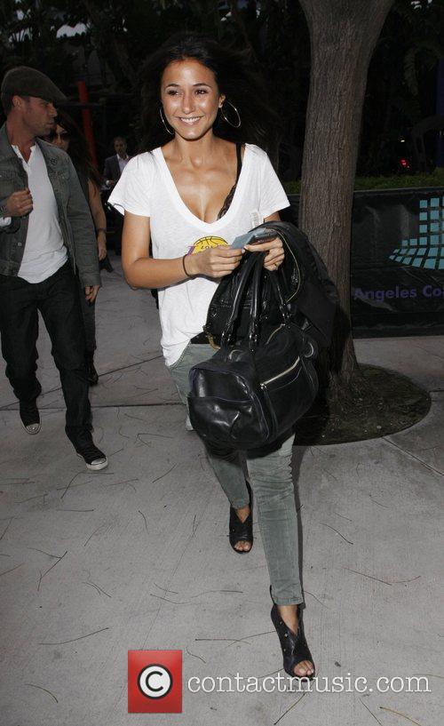 Emmanuelle Chriqui  Celebrities arriving at the Staples...