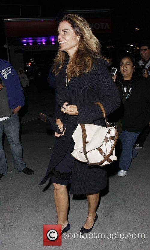 Maria Shriver Celebrities arriving at the Staples Center...