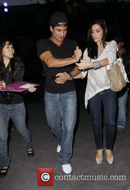 Mario Lopez Celebrities arriving at the Staples Center...