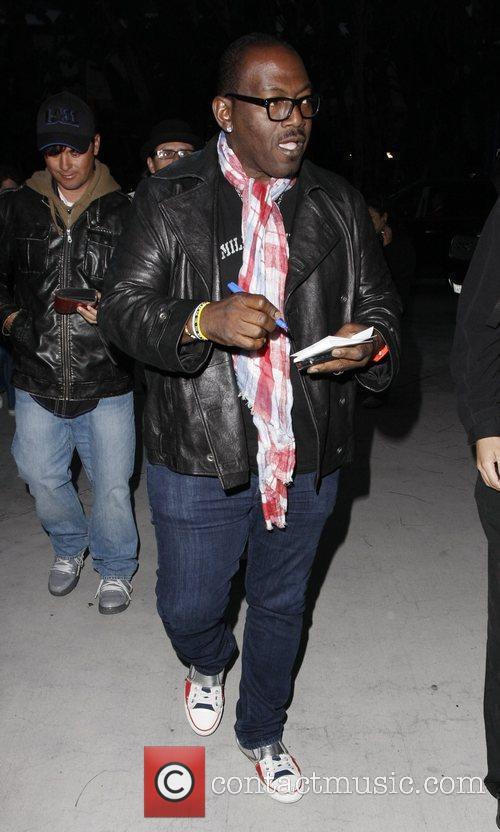 Randy Jackson Celebrities arriving at the Staples Center...