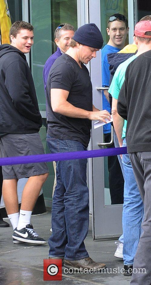 Matt Damon arrives at the Staples Centre to...