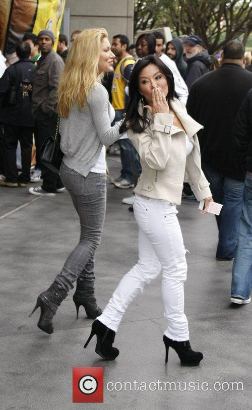 Sharon Tay,  arrives at the Staples Centre...