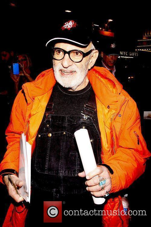 Larry Kramer handing out fliers about AIDS to...