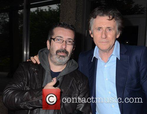 Gabriel Byrne and fan Jon Dardis Celebrities outside...