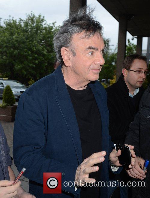 Neil Diamond Celebrities outside the RTE Studios for...