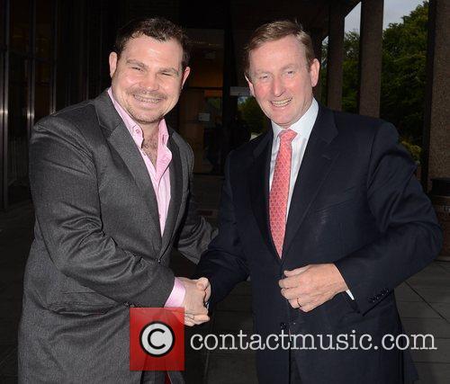 Taoiseach Enda Kenny and Eoin Murphy Celebrities outside...