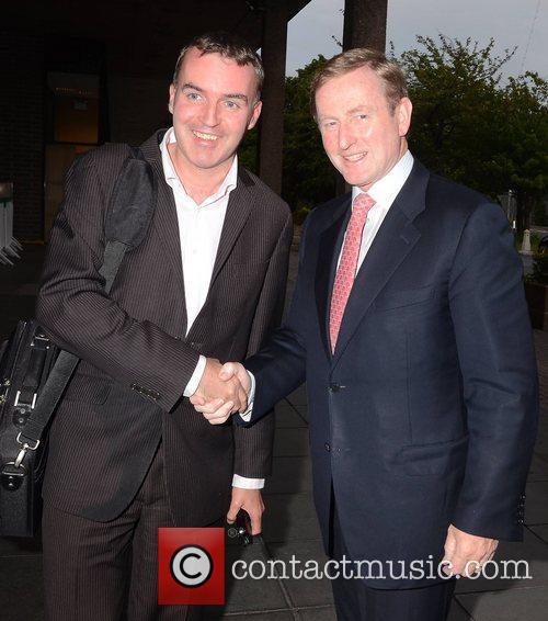 Taoiseach Enda Kenny and Eugene Masterson Celebrities outside...