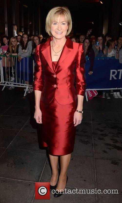 Celebrities outside the RTE studios for The Late...