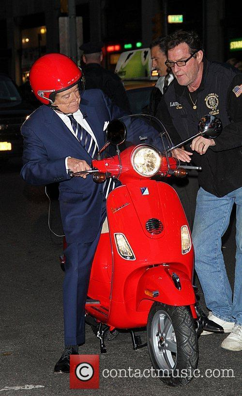 regis philbin is given a vespa scooter 5756915