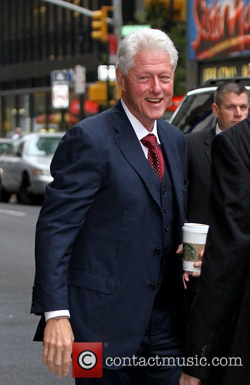 Former US President Bill Clinton 'The Late Show...