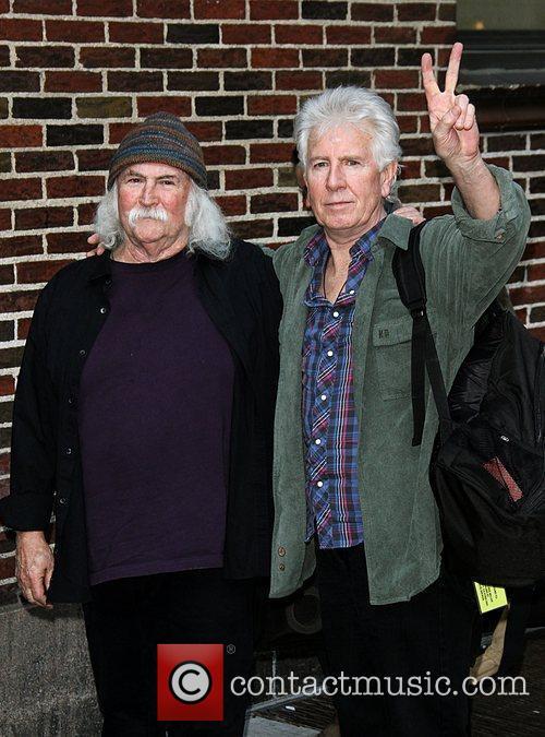 David Crosby and Graham Nash Celebrities at the...