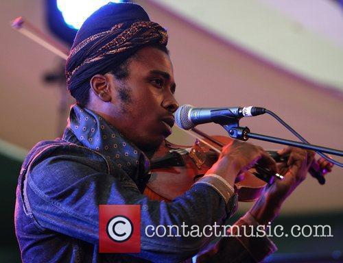 Marques Toliver performing on the Sunrise Tent stage...