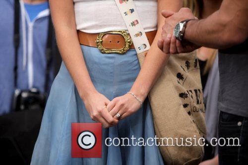 Lauren Bush's engagement ring Lauren Bush filming an...